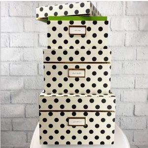 Kate spade nesting boxes. Full set of 3!
